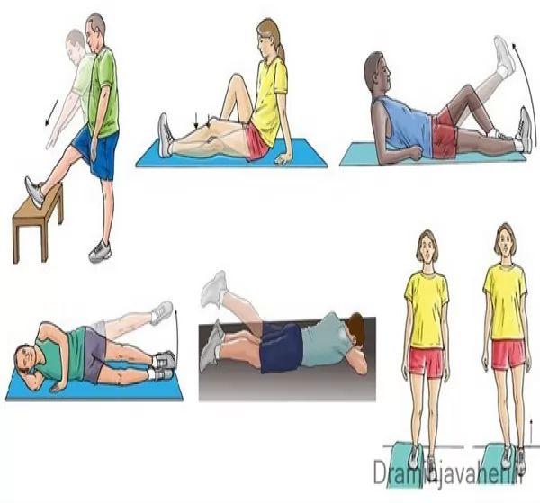انواع حرکت ورزشی مخصوص دررفتگی کشکک زانو