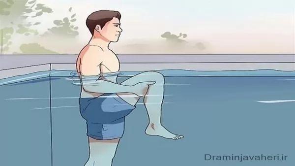 ورزش زانو درد در آب