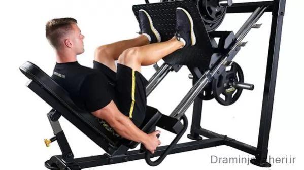 تقویت عضله چهار سر ران با دستگاه پرس