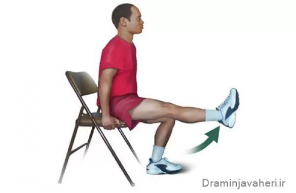 تمرین ورزشی تقویت عضله چهار سر ران