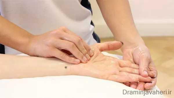 ماساژ و توانبخشی آرتریت انگشتان دست
